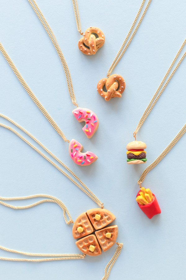 DIY (Tiny!) Food Friendship Neckalces