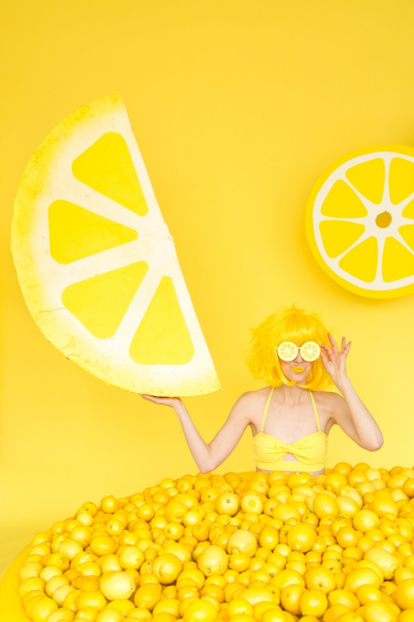 DIY Lemon Wedge Piñata