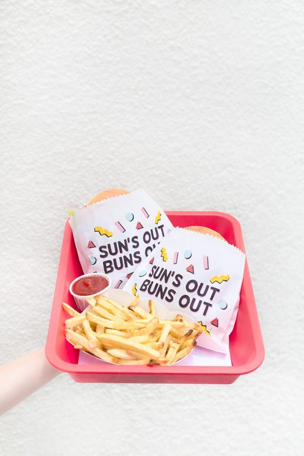 Sun's Out Buns Out! Burger Printables