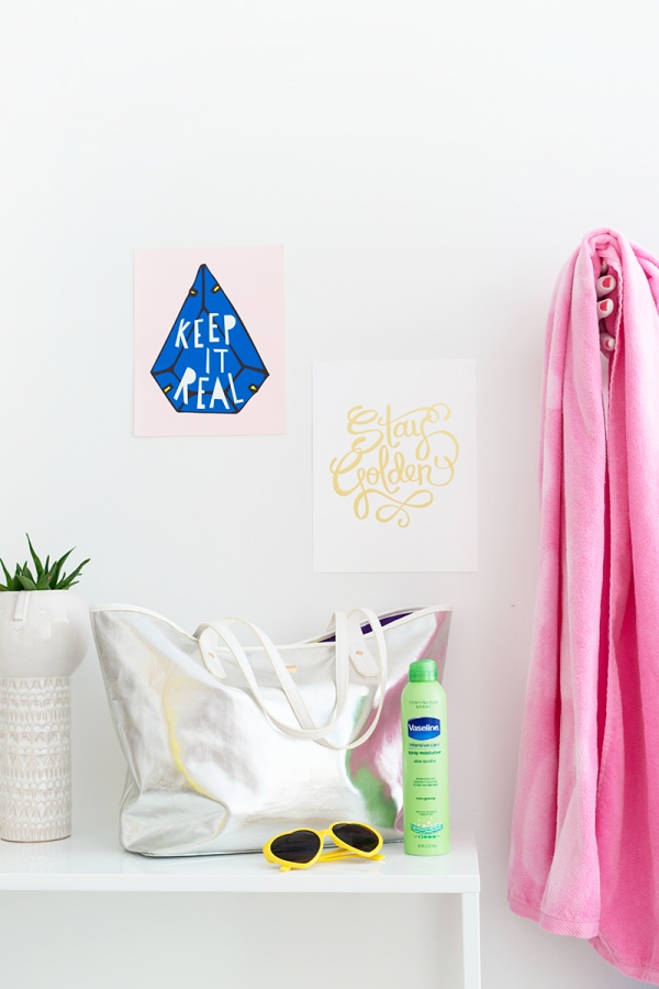 DIY Graphic Beach Towels