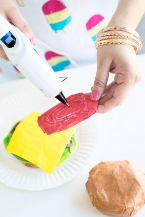 DIY Paper Mache Burger