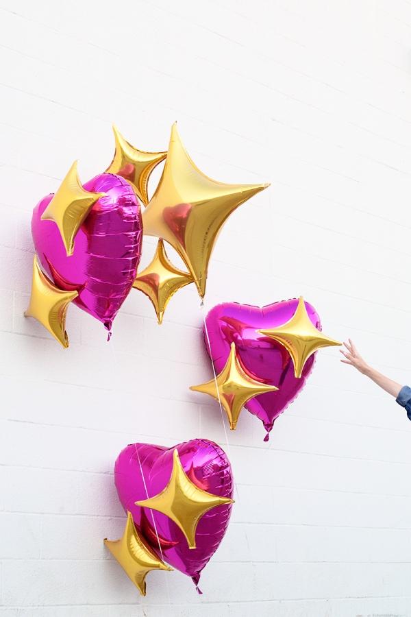 DIY Emoji Heart Balloons