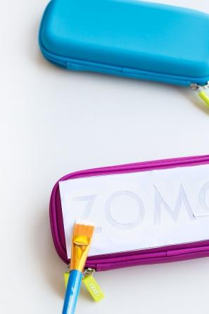 DIY Glittery Graphic Pencil Cases