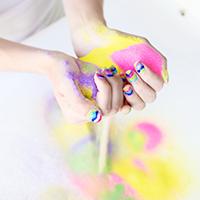 Sand Art Manicure