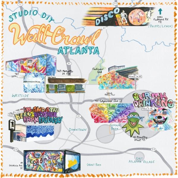 Atlanta Wall Crawl | studiodiy.com