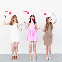 DIY Milkshake Costumes