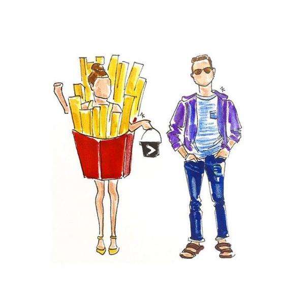 Fries Before Guys Costume