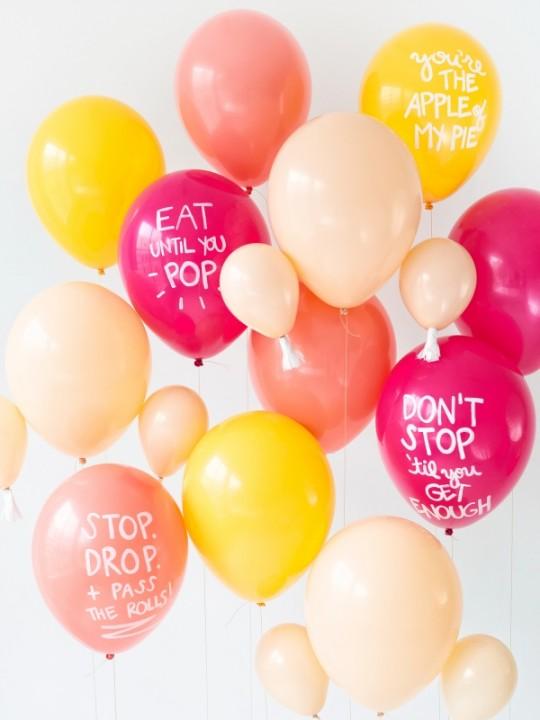 DIY Thanksgiving Balloons