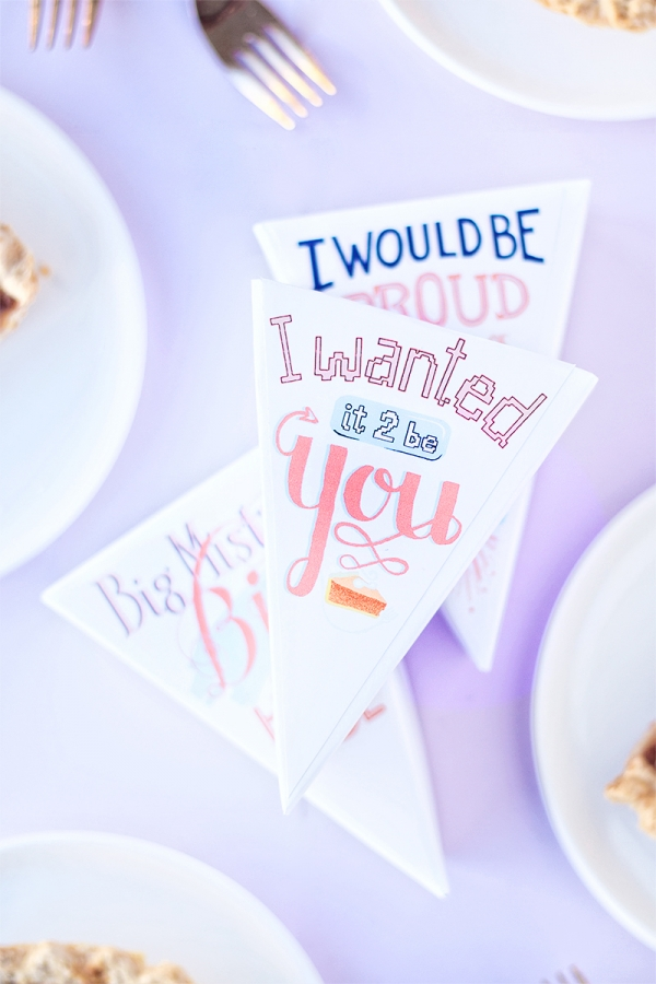 Leftover Pie Labels Inspired by Your Fave Romantic Comedies!