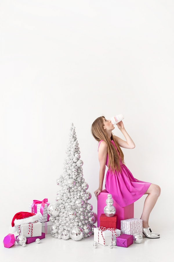 DIY Disco Ball Christmas Tree | studiodiy.com