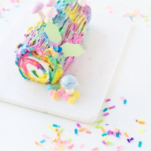 Throwback! | Tie Dye Yule Log Cake