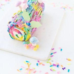 Throwback! | Tie Dye Yule Log Cake