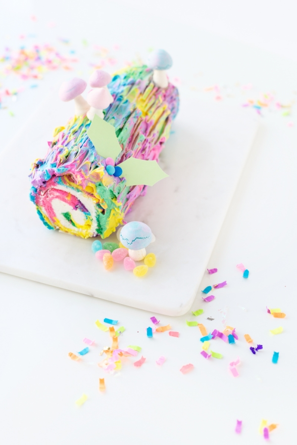 Throwback Tie Dye Yule Log Cake Studio Diy