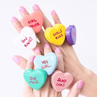 DIY Conversation Heart Rings