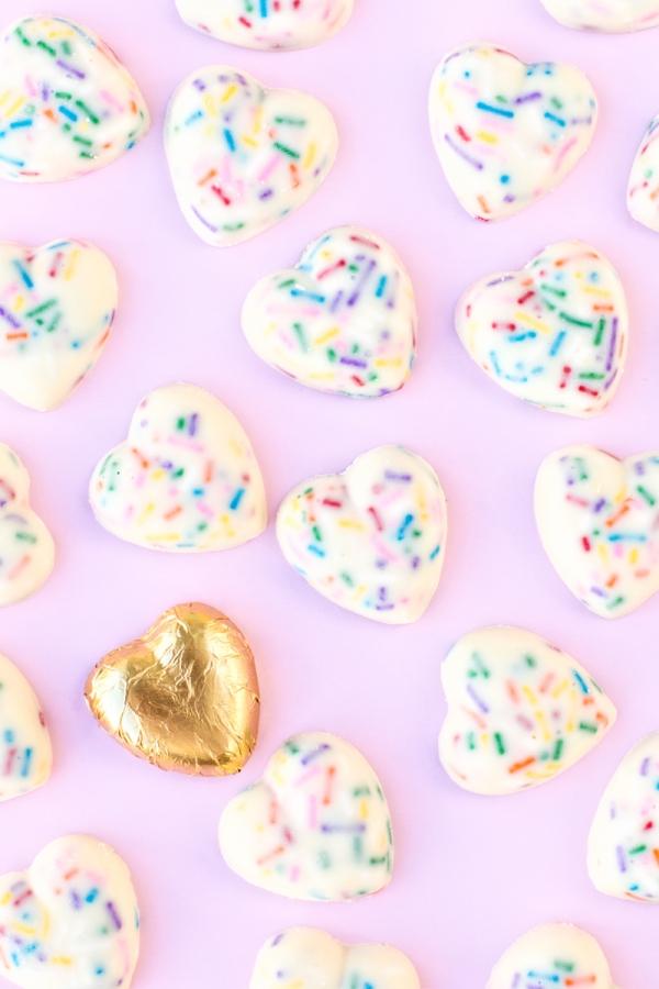 Funfetti Chocolate Hearts | studiodiy.com