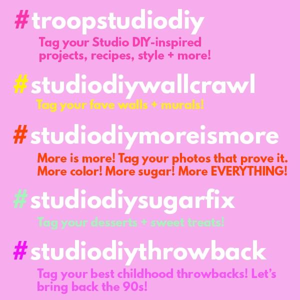 Studio DIY Hashtags! | studiodiy.com