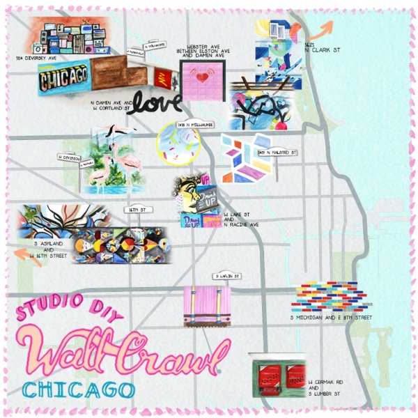 The Best Walls in Chicago Map | studiodiy.com