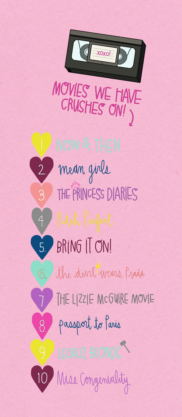 Chick Flick Movie Line-up Printable | studiodiy.com