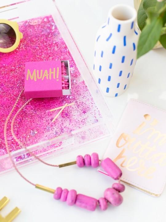 DIY Glitter Tray