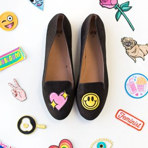 DIY No-Sew Embroidered Loafers