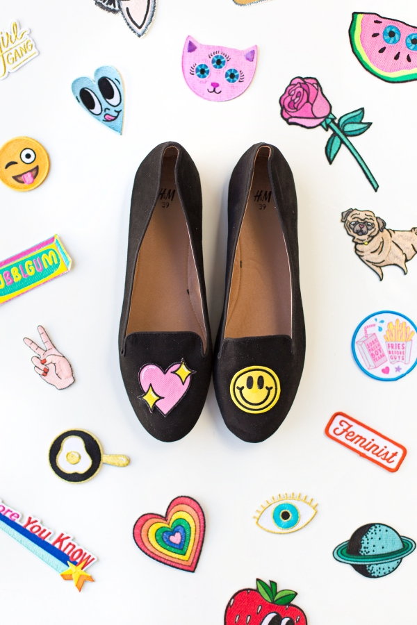 DIY No-Sew Embroidered Loafers | studiodiy.com