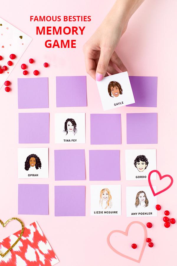 Famous Besties Memory Game (Free Printable!) | studiodiy.com