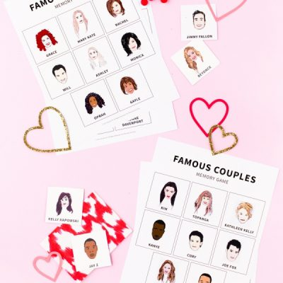 Famous Besties + Couples Memory Game (Free Printable!)