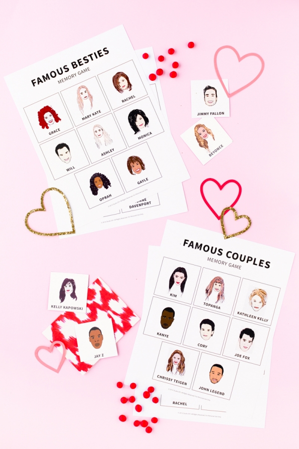 Famous Besties + Couples Memory Game (Free Printable!) | studiodiy.com