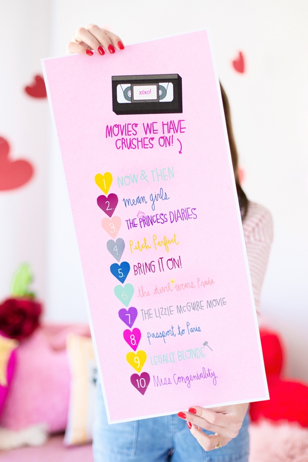 Chick Flick Movie Playlist Printable | studiodiy.com