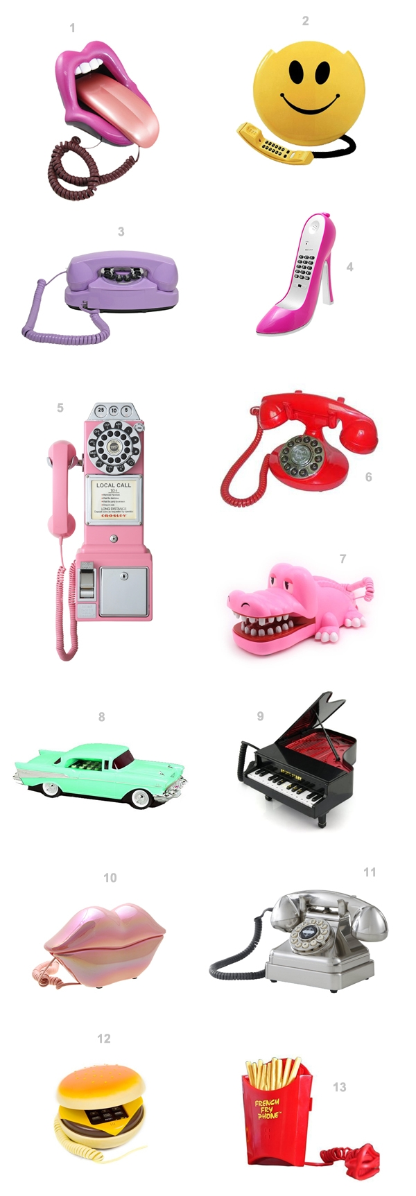 13 Novelty Phones You Probably Need | studiodiy.com