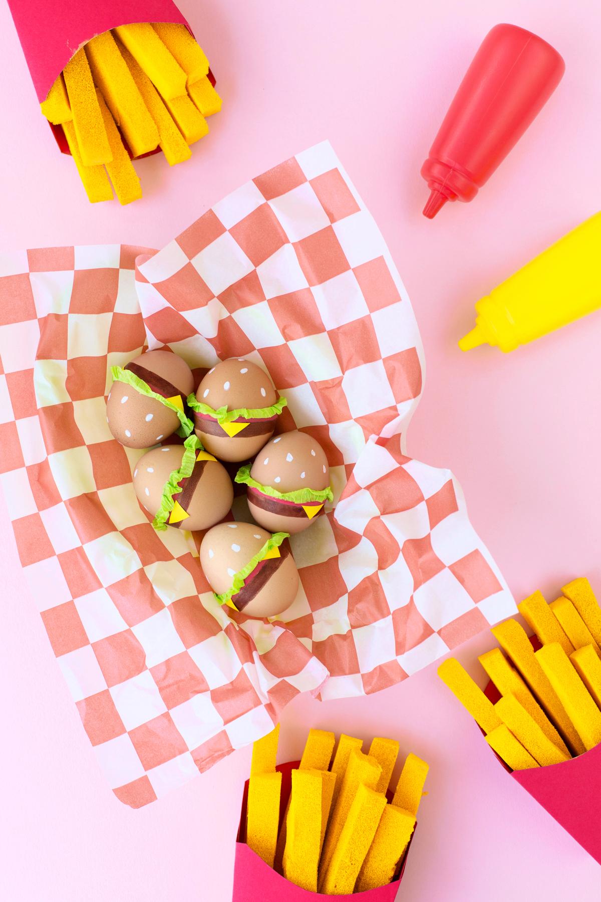 Diy Burger Easter Eggs Studio Diy