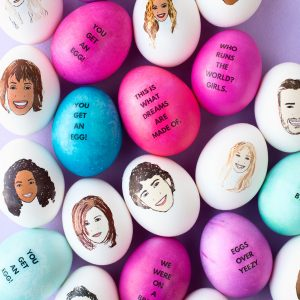 DIY Celebrity Easter Eggs | studiodiy.com