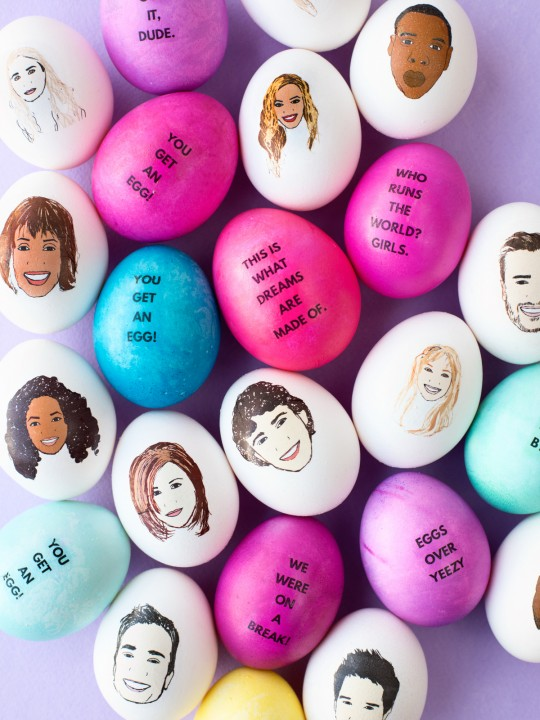 DIY Celebrity Easter Eggs