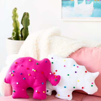 DIY Circus Animal Cookie Pillows