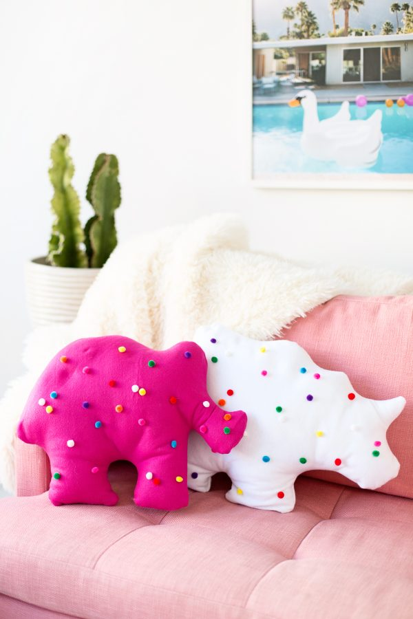 animal circus cookie pillows