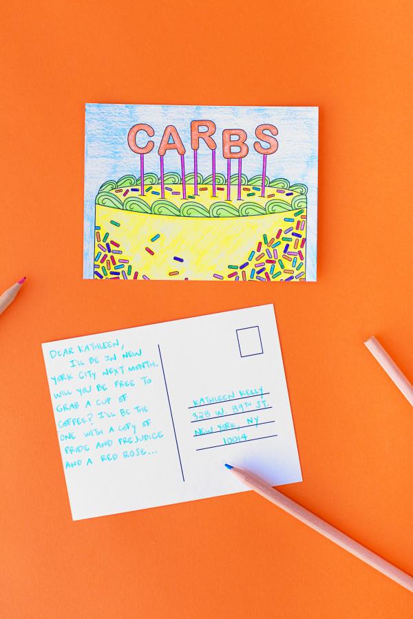 Free Printable Cake Coloring Postcards | studiodiy.com