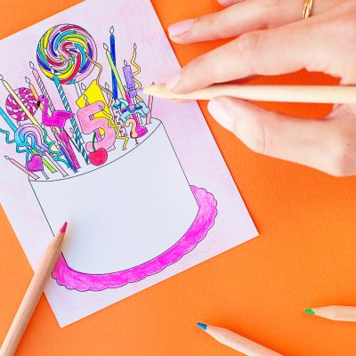 Free Printable Coloring Postcards