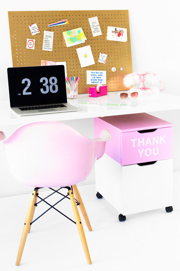 "DIY ""Thank You"" File Cabinet 