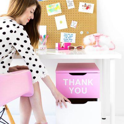 "DIY ""Thank You"" Filing Cabinet"