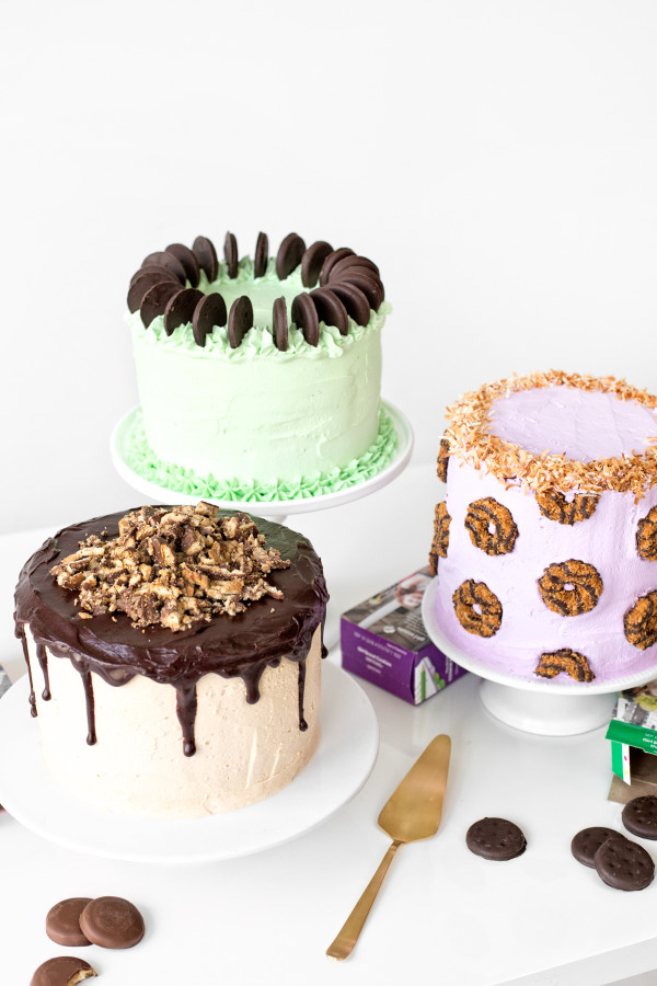 Girl Scout Cookie Cakes | studiodiy.com