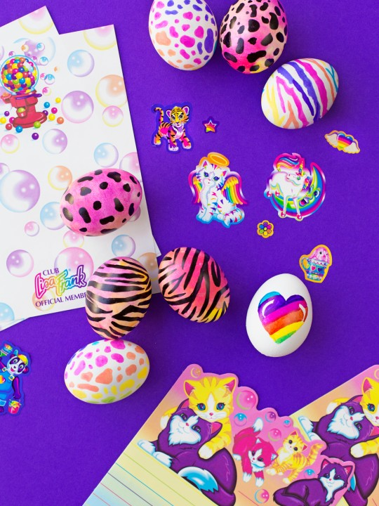 Throwback! | DIY Lisa Frank Easter Eggs