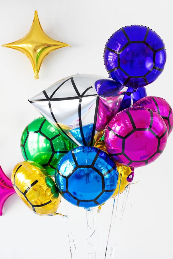 DIY Gem Balloons | studiodiy.com