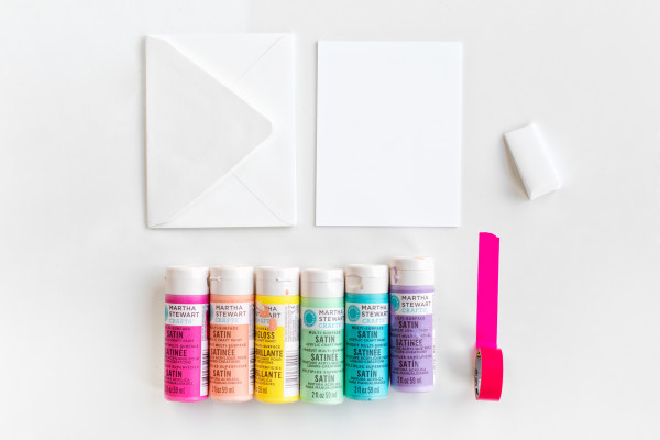 DIY Rainbow Edge Stationery | studiodiy.com