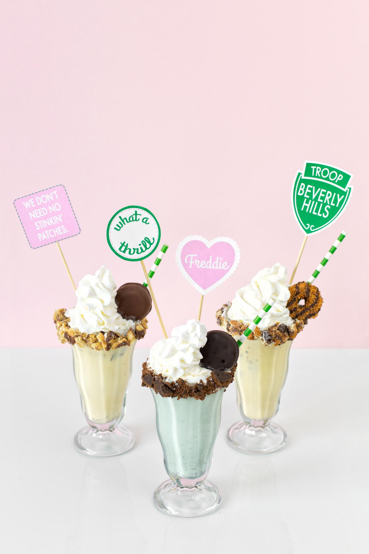 Troop Beverly Hills Girl Scout Cookie Milkshakes Studio Diy