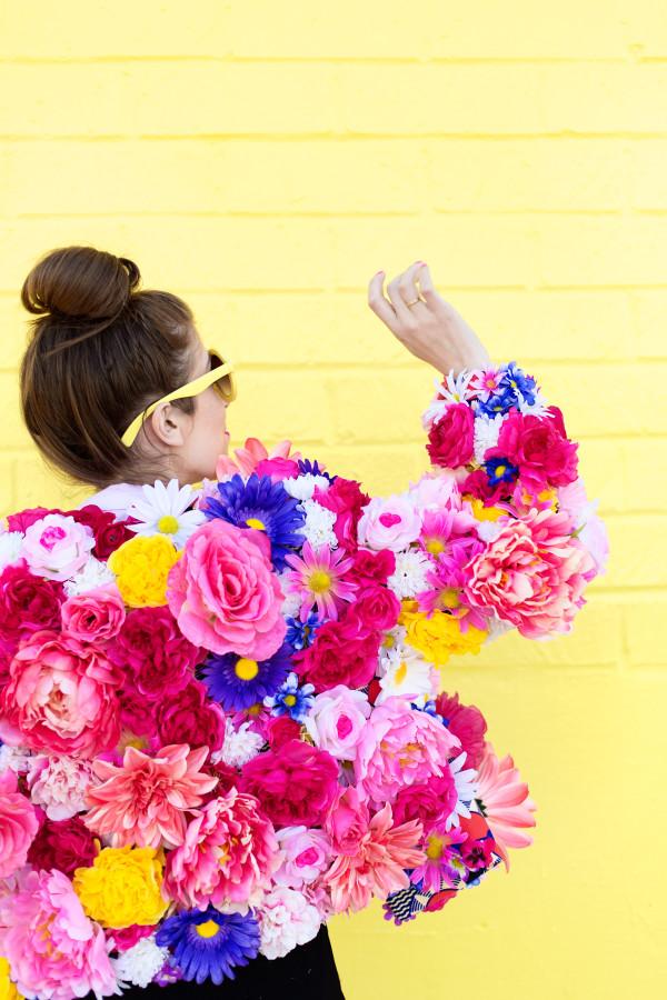 Diy Faux Flower Coat Studio Diy