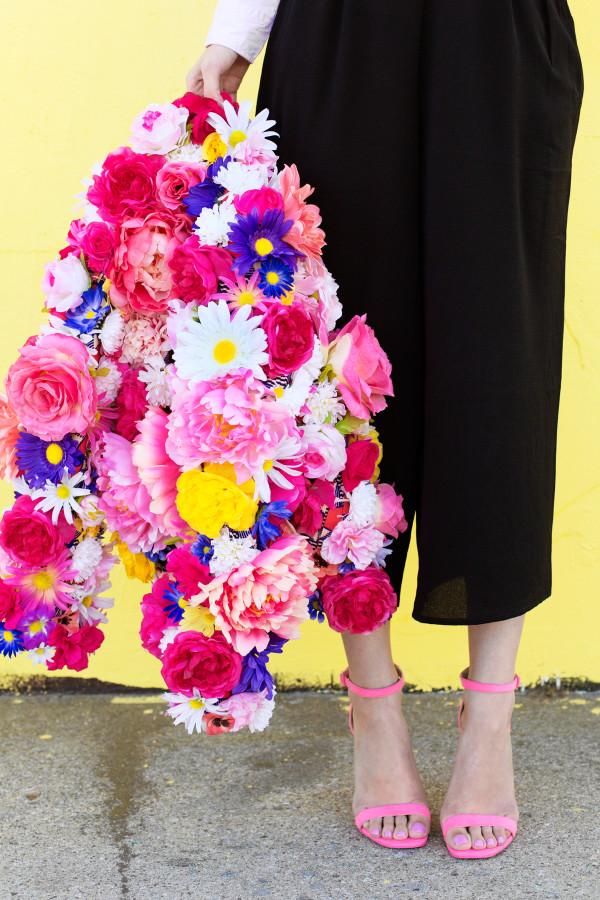 DIY Faux Flower Coat | studiodiy.com
