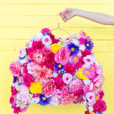 DIY Faux Flower Coat