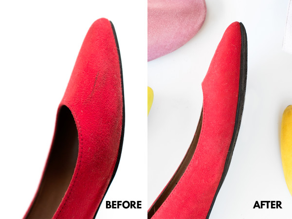 How to Clean Colorful Suede | studiodiy.com