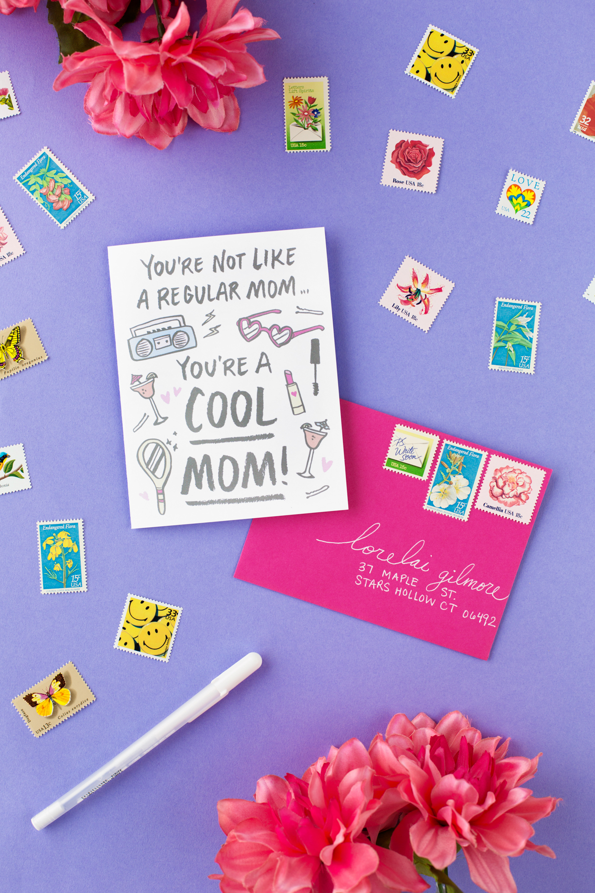 This is a graphic of Unforgettable Free Printable Mother's Day Card