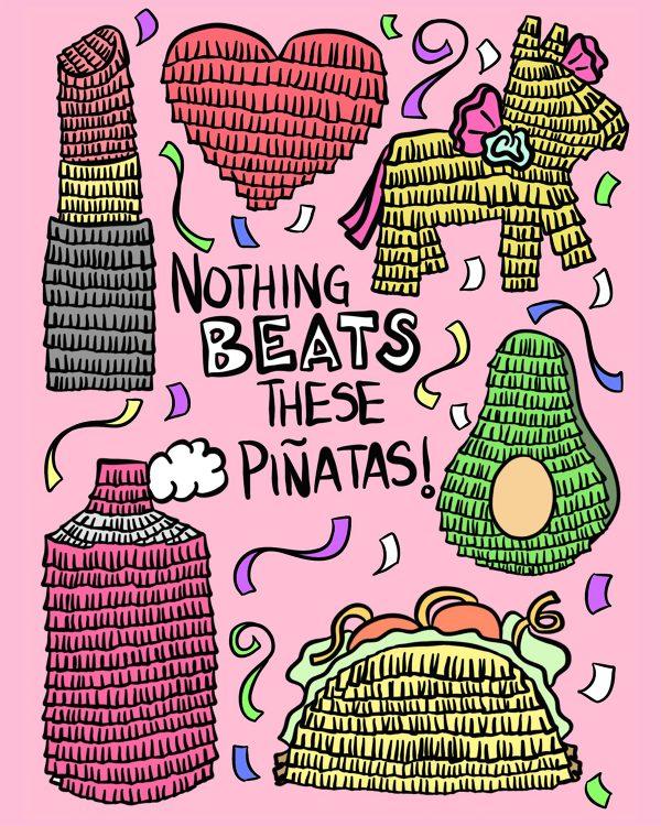 Piñata Coloring Sheet | studiodiy.com